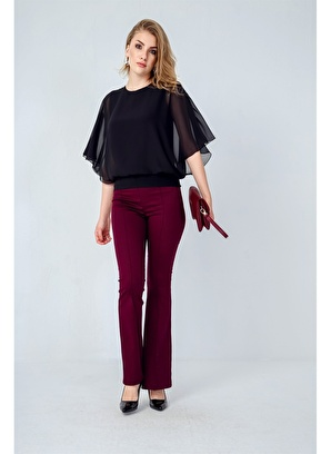 Jument Yüksek Bel Önü Arka Dikişli İspanyol Pantolon